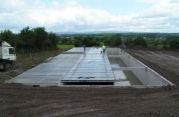 Building a large underground slurry tank