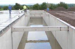 Extra precast beams for additional support
