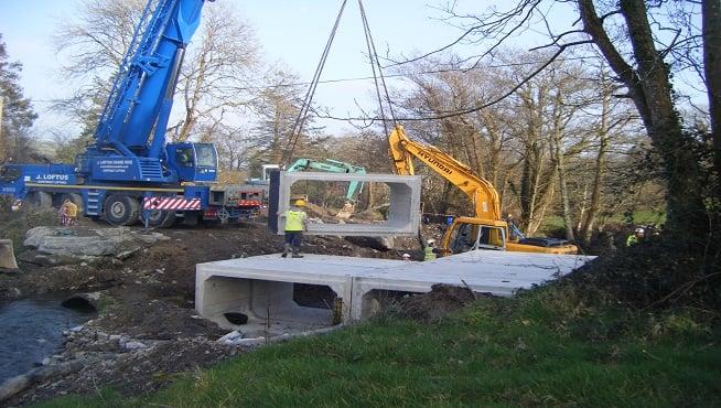 Croom Concrete Box Culverts Form New Bridges In West Cork
