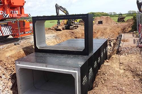 Precast Units for Cattle Underpass - James Brothers Enterprise Ltd