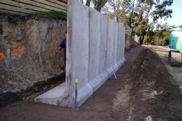 Concrete L Walls