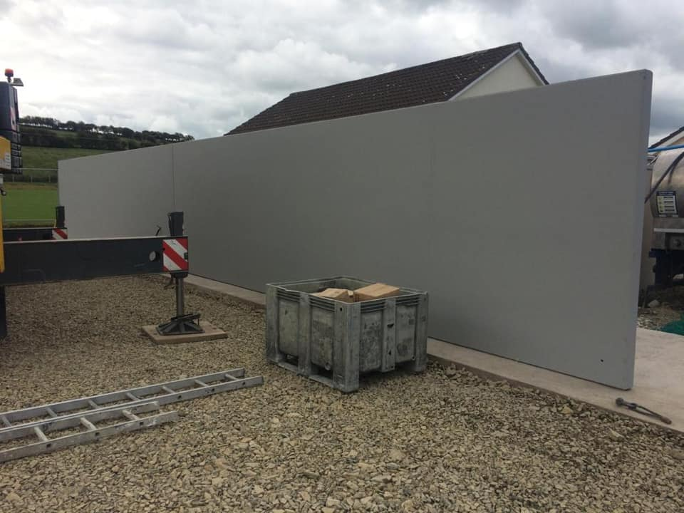 27m Croom Concrete precast hurling wall installed for Crotta O'Neills GAA in Notth Kerry