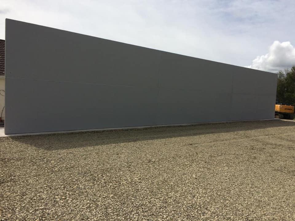 Precast Concrete Hurling Wall In Crotta O'Neills GAA