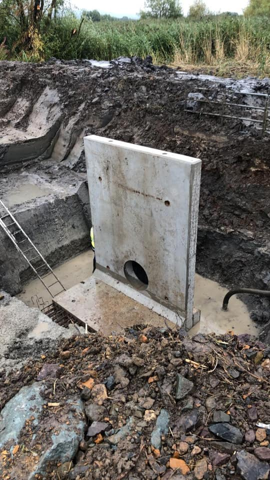 Pipe Headwalls Installed for Office of Public Works