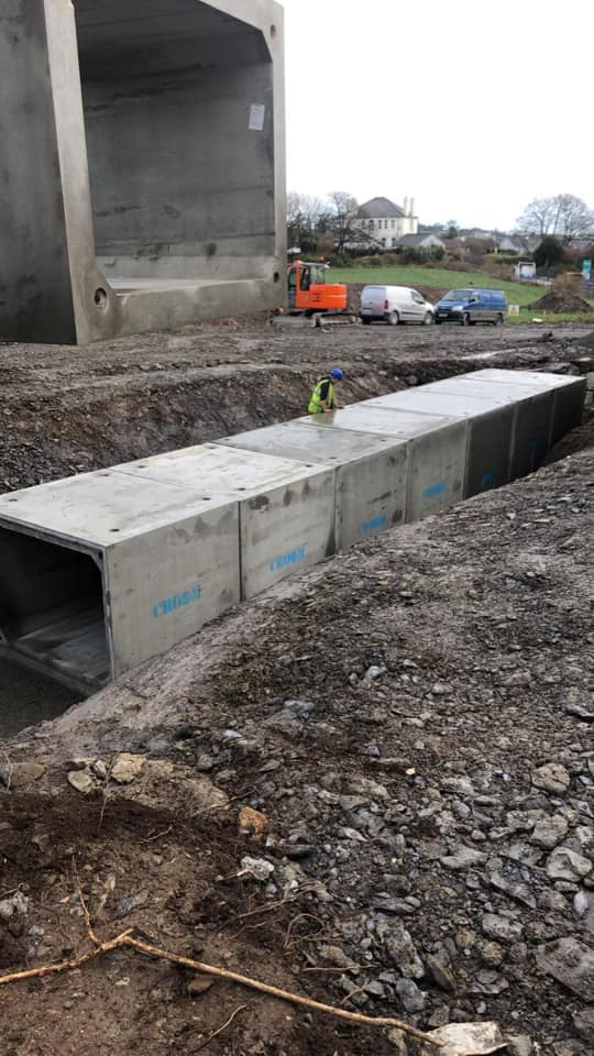 Fitting Precast Box Culverts in Schull, Co. Cork