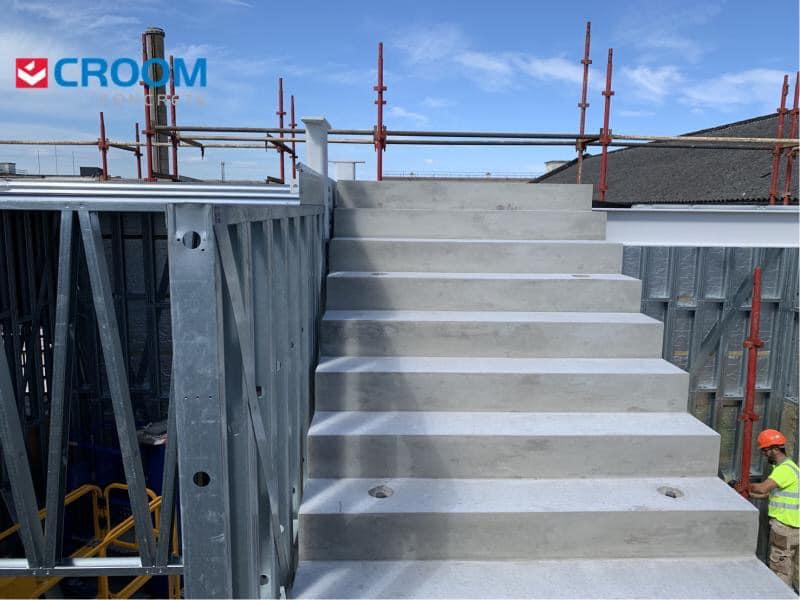 Concrete Stairwell for University Hospital Limerick