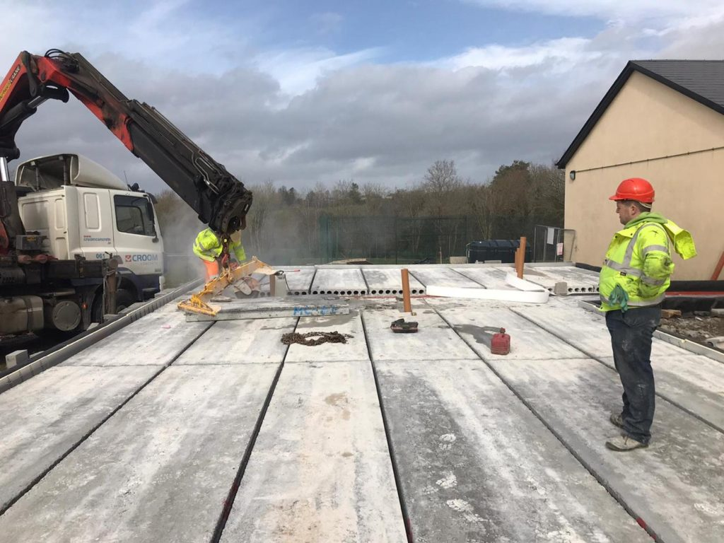 Prestressed Hollowcore Ground Floor Slabs in Wexford