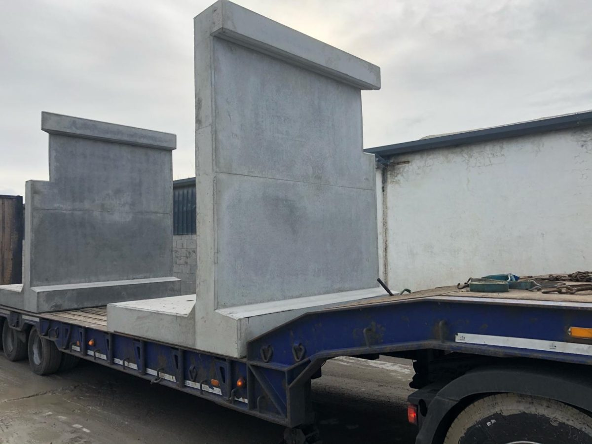 Precast Retaining Wing Walls for Clonmel Enterprises